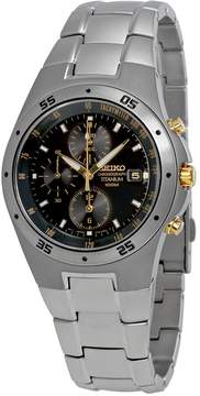 Seiko Titanium Chronograph Black Dial Men's Watch