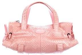 Tod's Mini Snakeskin Handle Bag