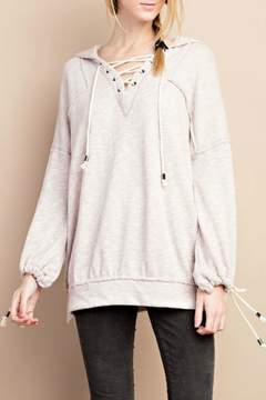 Easel Lace Up Hoodie