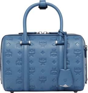 MCM Essential Boston Bag In Monogram Leather
