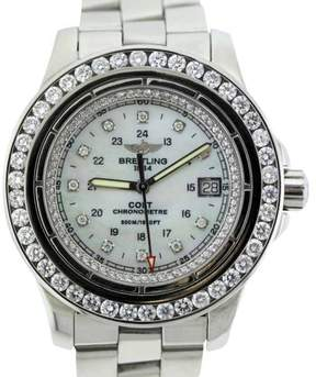 Breitling Colt A74380 Stainless Steel With White Mother of Pearl Dial Mens Watch