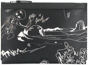 Lanvin graphic illustrated clutch