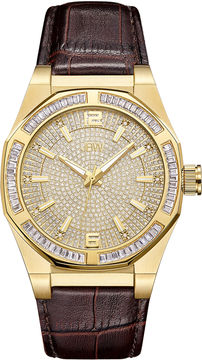 JBW Diamond Mens Brown Strap Watch-J6350b