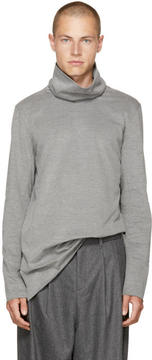 Attachment Grey Wide Collar Turtleneck