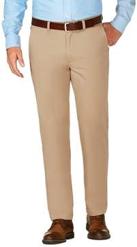 Haggar Men's J.M. Luxury Comfort Slim-Fit 4-Way Stretch Flat-Front Casual Pants