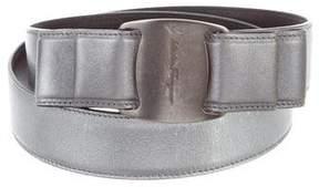 Salvatore Ferragamo Metallic Vara Belt