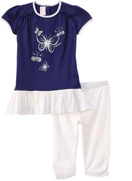 Chicco Girls' Short Sleeve Dress & Leggings Set