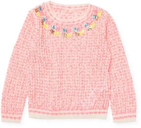 Billieblush Little Girl's Sequined Sweater