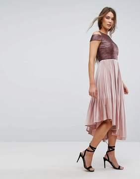 Coast Delores Velvet Pleated Dress