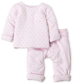 Absorba Newborn Girls) Two-Piece Star Print Top & Pants Set