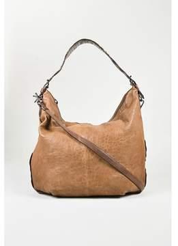 Reed Krakoff Pre-owned Brown Embossed Leather standard Ii Hobo Bag.