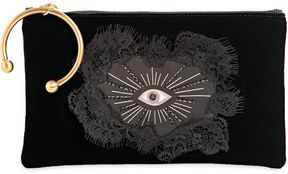 Velvet Clutch W/ Hand Patch & Eye Patch