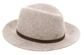 Rag & Bone Wool Leather-Trimmed Fedora w/ Tags