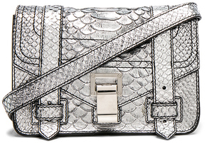 Proenza Schouler Mini Crossbody PS1+ Metallic Embossed Python