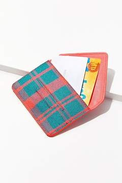 Urban Outfitters Plaid Envelope Card Case