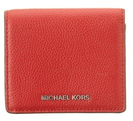 MICHAEL Michael Kors Mercer Leather Card Case. - RED - STYLE