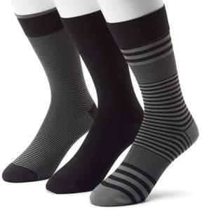 Marc Anthony Men's 3-pack Striped & Solid Microfiber Dress Socks