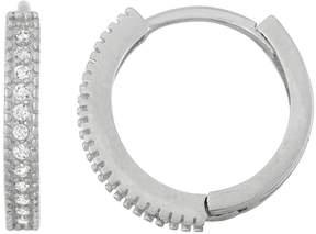 Junior Jewels Kids' Sterling Silver Cubic Zirconia Hoop Earrings