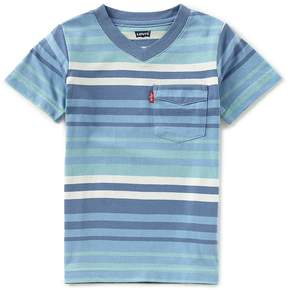 Levi's Little Boys 2T-7 Striped Sunset Pocket Tee