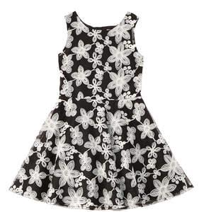 Nanette Lepore Novelty Embroidered Chiffon Dress
