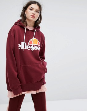 Ellesse Boyfriend Hoodie With Chest Logo