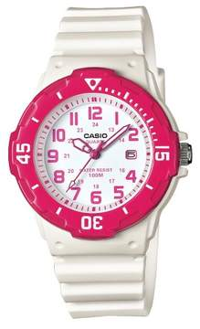 Casio Women's Dive Style Watch with Glossy Strap White (LRW200H-4B2VCF