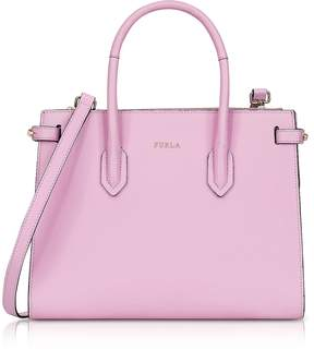 Furla Glicine Leather Pin Small E/W Tote Bag