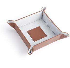 Royce Leather Royce Tan Genuine Leather Catchall Valet Tray