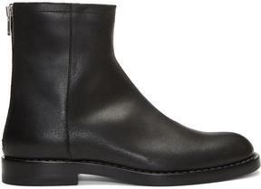 Maison Margiela Black Leather Zip Boots