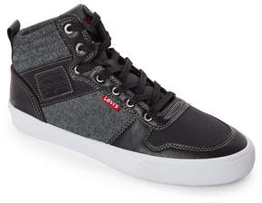 Levi's Black & Grey Wilshire Mid Sneakers