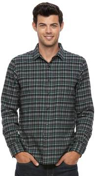 Apt. 9 Men's Slim-Fit Plaid Brushed Flannel Button-Down Shirt