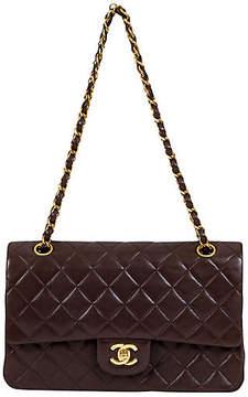 One Kings Lane Vintage Chanel Brown Lambskin Double Flap 10