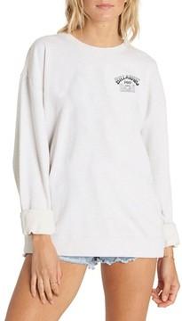 Billabong Women's White Wash Sweatshirt