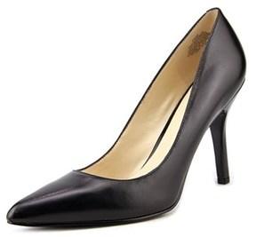 Nine West Shimmer Women Pointed Toe Leather Black Heels.