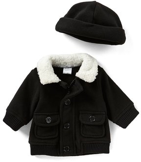 Starting Out Baby Boys 3-24 Months Faux-Fur Trim Coat & Hat Set