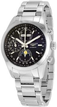 Longines Conquest Classic Black Dial Chronograph Moon Phase Men's Watch L27984526