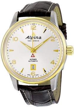 Alpina Alpiner Automatic Silver Dial Brown Leather Men's Watch