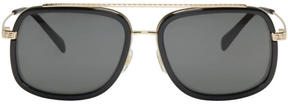 Versace Black Pop Chic Greca Aviator Sunglasses
