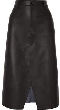 Dion Lee Leather Midi Skirt - Black