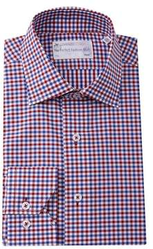 Lorenzo Uomo Double Gingham Trim Fit Dress Shirt