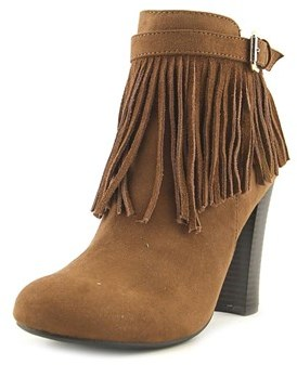 Material Girl Persia Round Toe Canvas Ankle Boot.