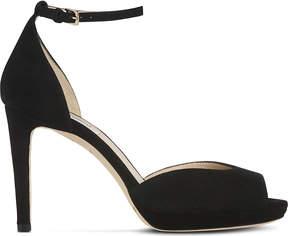 LK Bennett Yasmin suede heeled sandals