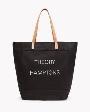 Theory Hamptons Box Tote in Canvas and Leather