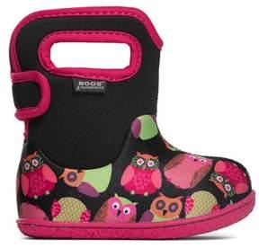 Bogs Kids' Baby Owls Waterproof Winter Boot Toddler