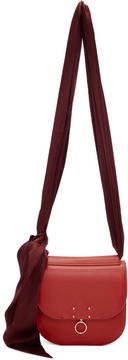 Jil Sander Red and Burgundy Small Warp Bag