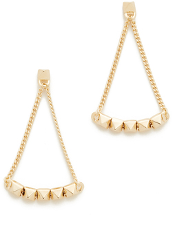 Eddie Borgo Pyramid Tennis Link Earrings