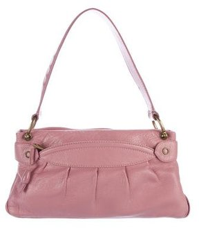 Marc Jacobs Grained Leather Shoulder Bag - PINK - STYLE