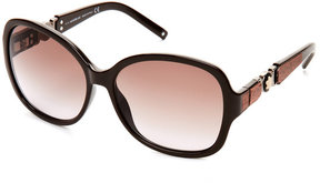 Montblanc MB 420/S Brown Butterfly Sunglasses