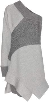 Burberry Panelled jersey sweatshirt dress