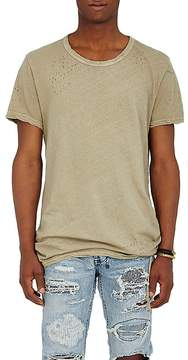 Ksubi Men's Bad Habits Distressed Cotton-Linen T-Shirt